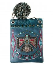 2030W212(TL)-wholesale-cross-body-bag-messenger-bag-rhinestone-aztec-eagle-leather-turquoise-embroidery(0).jpg