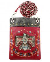2030W212(WN)-wholesale-cross-body-bag-messenger-bag-rhinestone-aztec-eagle-leather-turquoise-embroidery(0).jpg