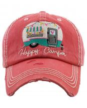KBV1276(HPK)-wholesale-cap-happy-camper-camp-trailer-heart-floral-banner-embroidered-baseball-vintage-torn-cotton(0).jpg