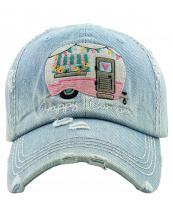 KBV1276(LDM)-wholesale-cap-happy-camper-camp-trailer-heart-floral-denim-embroidered-baseball-vintage-torn-cotton(0).jpg