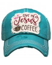 KBV1357(TUQ)-wholesale-baseball-cap-give-me-jesus-coffee-embroidered-vintage-torn-stitch-cotton-velcro-adjustable(0).jpg