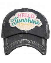KBV1358(BK)-wholesale-baseball-cap-hello-sunshine-embroidered-vintage-torn-stitch-cotton-velcro-adjustable(0).jpg