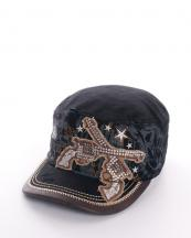 KBV961(BK)-wholesale-rhinestones-dual-gun-fabric-cap-horse-western-vintage-star-faux-leather-(0).jpg