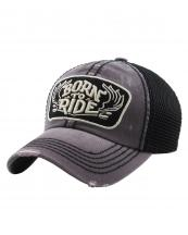 KBVT616(DGY)-W14-wholesale-baseball-cap-mesh-trucker-embroidered-born-to-ride-wings-stitched-torn-cotton-polyester-(0).jpg