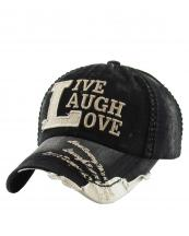 KBVT649(BKBG)-W03-wholesale-baseball-cap-live-laugh-love-vintage-torn-stitch-embroidered-brim-cotton-moment-day-word(0).jpg