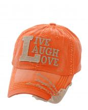 KBVT649(TOG)-W03-wholesale-baseball-cap-live-laugh-love-vintage-torn-stitch-embroidered-brim-cotton-moment-day-word(0).jpg