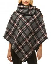 LOF1014(BK)-wholesale-poncho-plaid-checkered-pattern-buttons-turtleneck-multicolor-polyester-one-size-high-neck(0).jpg