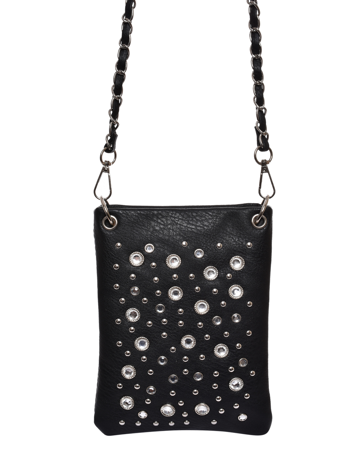 203007(BK)-wholesale-mini-messenger-bag-rhinestones-studs-silver-faux-leatherette-western-crossbody-chain-strap(0).jpg