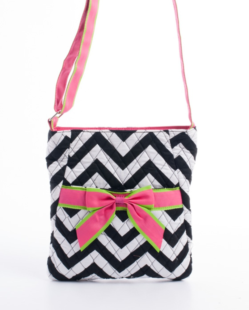 CC501(BKWT)-wholesale-messenger-bag-chevron-bow-velcro-pocket-quilted-fabric-zigzag-cross-body-embroiderable(0).jpg