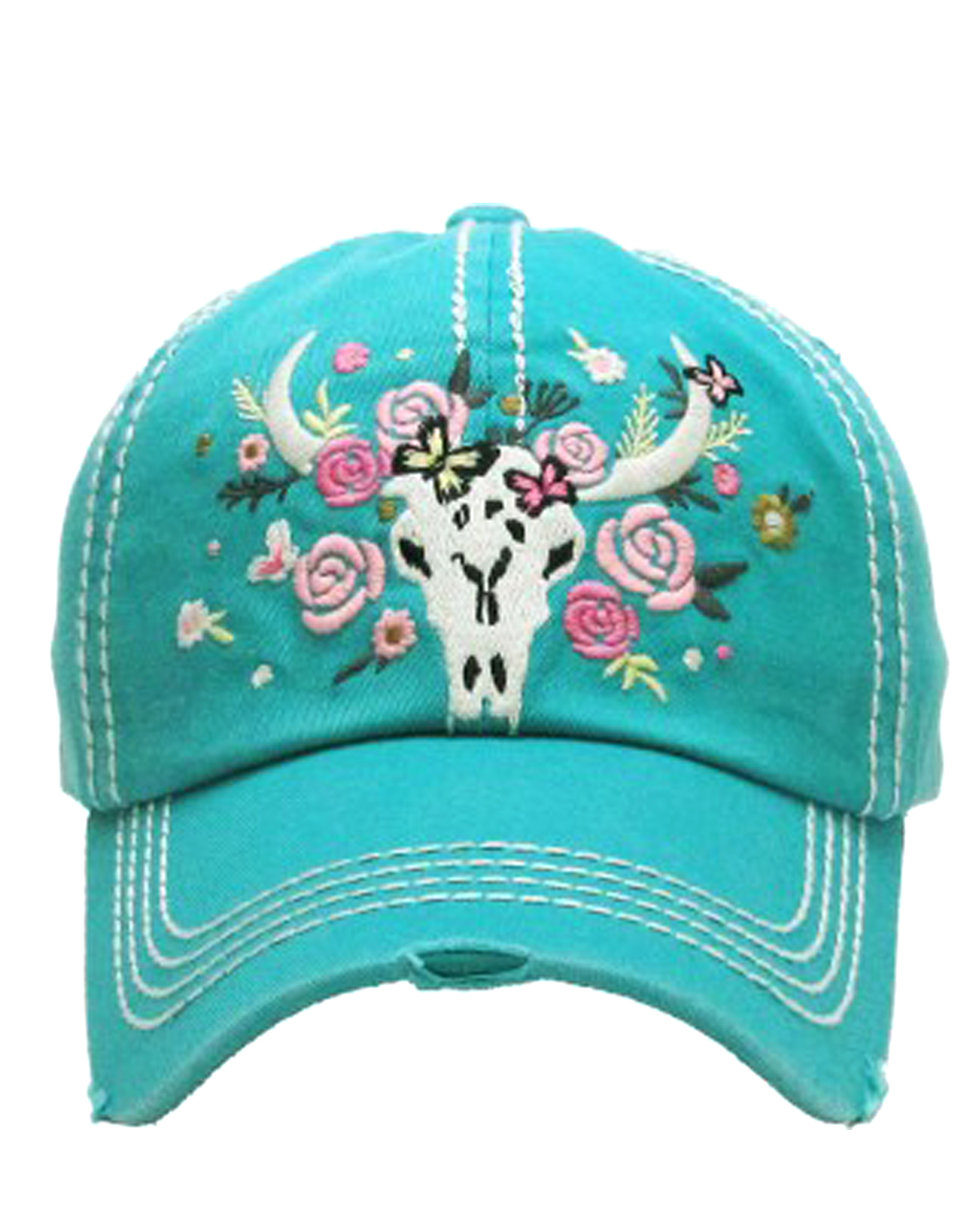 KBV1124(TQ)-wholesale-cap-floral-cow-skull-vintage-torn-stitch-baseball-cotton-embroidery-steer-rose-longhorn(0).jpg