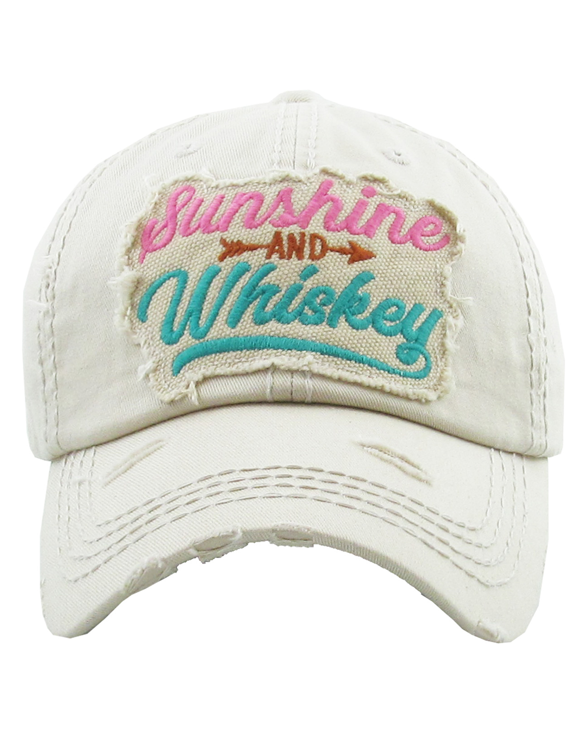 KBV1234(ST)-wholesale-cap-sunshine-and-whiskey-arrow-embroidered-multicolor-vintage-tone-stitch-baseball-cotton(0).jpg