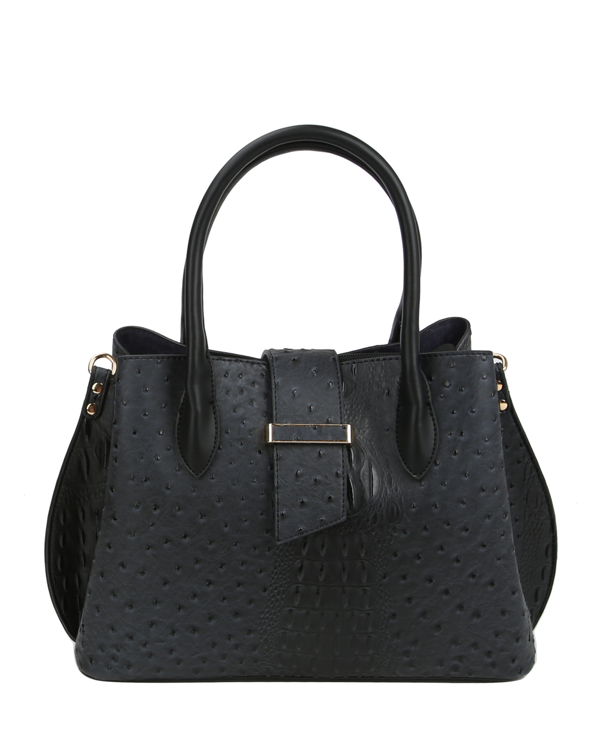 LQ151(BK)-wholesale-handbag-alligator-ostrich-animal-pattern-vegan-leatherette-flap-loop-black-compartment(0).jpg