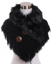 CS7221(BK)-wholesale-scarf-neck-warmer-shorty-poncho-faux-fur-collar-solid-color-knitted-tassel-fringe-buttons(0).jpg