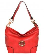 HB3134M(RD)-wholesale-handbag-faux-leatherette-hobo-gold-metal-emblem-link-lobster-claw-clasp-solid-fashion(0).jpg