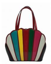 HL700(RDMUL)-wholesale-handbag-patent-faux-leather-shell-shape-shiny-gold-frame-rhinestone-lock-two-multi-color(0).jpg