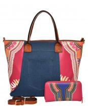 JY0223W(FU)-(SET-2PCS)-wholesale-handbag-wallet-2pc-set-tribal-southwestern-ethnic-pattern-denim-pocket-jeans-vegan-leather(0).jpg