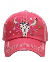 KBV1124(HPK)-wholesale-cap-floral-cow-skull-vintage-torn-stitch-baseball-cotton-embroidery-flower-rose-multicolor(0).jpg