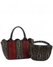 L0231(MUL1)-(SET-2PCS)-wholesale-handbag-leopard-snake-animal-pattern-printed-black-bag-vegan-leatherette-layered-strap-set(0).jpg