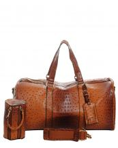 LF128(BR)-wholesale-duffle-bag-set-pouch-alligator-ostrich-leatherette-luggage-tag-double-zipper-travel-(0).jpg