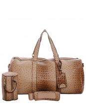 LF128(ST)-wholesale-duffle-bag-set-pouch-alligator-ostrich-leatherette-luggage-tag-double-zipper-travel-(0).jpg