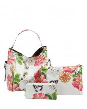 LHU2042W(BG)-(SET-3PCS)-wholesale-handbag-pouch-bag-wallet-floral-butterfly-zipper-patent-vegan-pearl-graphic-rhinestone(0).jpg
