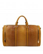 LHU308(YL)-wholesale-duffle-bag-set-pouch-alligator-ostrich-leatherette-luggage-tag-double-zipper-travel-(0).jpg
