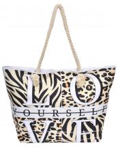 LOA256(BE)-wholesale-tote-bag-zebra-with-leopard-pattern-love-yourself-typography-rope-handle(0).jpg