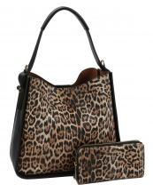 LSJ0161W(BK)-(SET-2PCS)-wholesale-handbag-wallet-leopard-animal-pattern-vegan-leatherette-colored-strap-compartments-pocket-(0).jpg