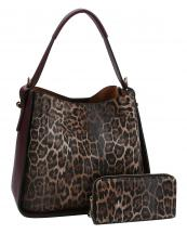 LSJ0161W(PM)-(SET-2PCS)-wholesale-handbag-wallet-leopard-animal-pattern-vegan-leatherette-colored-strap-compartments-pocket-(0).jpg