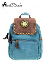 MTB7004(TQ)-MW-wholesale-montana-west-backpack-genuine-leather-canvas-travel-bag-concho-patch-gold-berry-studs(0).jpg