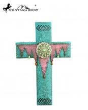 RSD1635(TQ)-MW-wholesale-montana-west-wall-cross-11-aztec-texture-resin-silver-turquoise-stone-concho(0).jpg