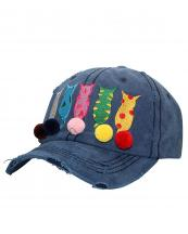 T13CAT01(NV)-wholesale-cap-cat-mom-star-patteren-pompom-embroidery-multicolor-vintage-torn-stitch-baseball-cotton(0).jpg