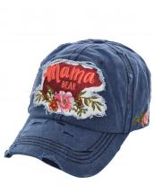 T13MOM09(NV)-wholesale-cap-mama-bear-floral-multi-color-baseball-embroidered-vintage-torn-stitch-cotton-animal(0).jpg