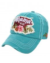 T13MOM09(TQ)-wholesale-cap-mama-bear-floral-multi-color-baseball-embroidered-vintage-torn-stitch-cotton-animal(0).jpg