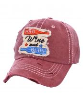 T13WIN06(BUR)-wholesale-cap-wine-red-blue-bottle-glass-star-emboss-embroidered-vintage-torn-stitch-baseball-cotton(0).jpg
