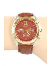 12366(BR)-wholesale-chronograph-watch-gold-bezel-leather-strap(0).jpg