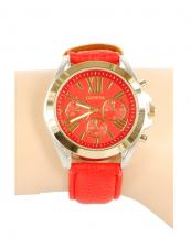 12366(RD)-wholesale-chronograph-watch-gold-bezel-leather-strap(0).jpg