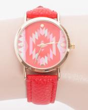 132741(RD)-wholesale-metal-watch-stainless-gold-bezel-genuine-leather-strap-aztec-southwestern(0).jpg