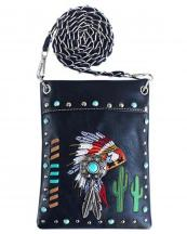 2030W179(BK)-wholesale-mini-messenger-bag-native-american-indian-chief-headdress-rhinestone-cactus-feather(0).jpg