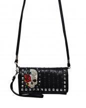2066SK8(BK)-wholesale-wallet-mini-messenger-bag-skull-floral-rhinestone-pyrimid-studs-silver-western-embroidered(0).jpg