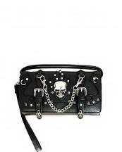 2066SK9(BK)-wholesale-wallet-mini-messenger-bag-skull-bone-rhinestone-pyrimid-studs-silver-flap-western-carved-(0).jpg