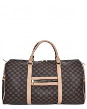 2560(CF)-wholesale-duffle-bag-floral-dots-lined-diamond-pattern-zippered-pocket-faux-leatherette-strap-travel(0).jpg