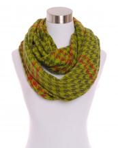 500313(GN)-wholesale-houndstooth-plaid-infinity-scarf-multi-color-knitted-acrylic(0).jpg