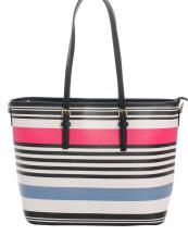 87080(FUMT)-wholesale-handbag-tote-stripe-multicolor-leatherette-faux-leather-belt-buckle-fashion(0).jpg