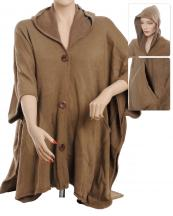 AO626(KHA)-wholesale-poncho-button-up-hooded-pockets-solid-color-plain-armholes-one-size-acrylic(0).jpg