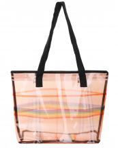 AO8046(MUL)-wholesale-tote-bag-clear-plaid-pattern-rainbow-line-smooth-glossy-texture-pvc-polyester(0).jpg