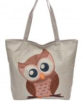 AO825(BG)-wholesale-handbag-tote-beach-bag-graphic-print-cotton-canvas-fashion-owl-animal-sit-branch(0).jpg