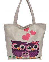 AO826(BG)-wholesale-handbag-tote-beach-bag-graphic-print-cotton-canvas-heart-owl-family-animal-sit-branch(0).jpg