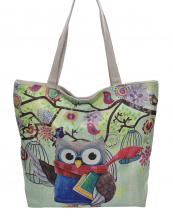AO828(BG)-wholesale-handbag-tote-beach-bag-graphic-print-cotton-canvas-owl-book-bird-cage-floral-scarf-branch(0).jpg