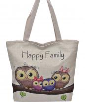 AO830(BG)-wholesale-handbag-tote-beach-bag-graphic-print-cotton-canvas-owl-family-animal-leave-branch-happy(0).jpg
